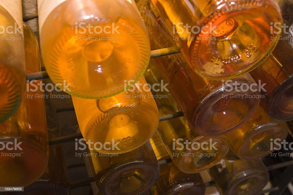 old white wine bottles stock photo