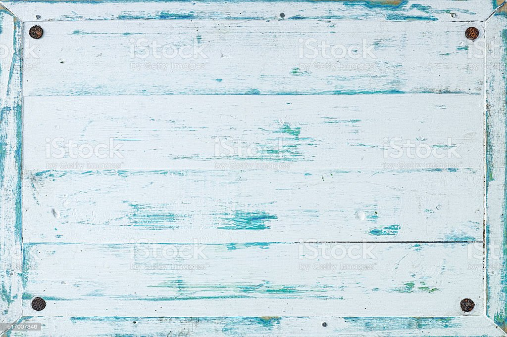 Old white wooden board frame background. stock photo
