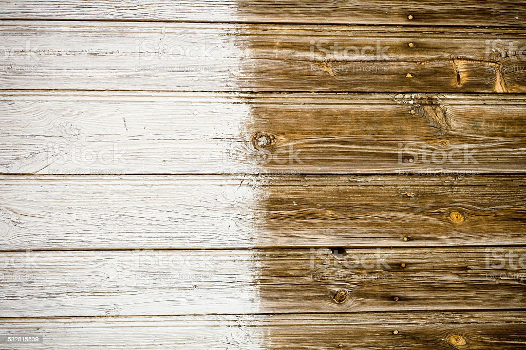 Old white-brown wooden board background XXXL stock photo