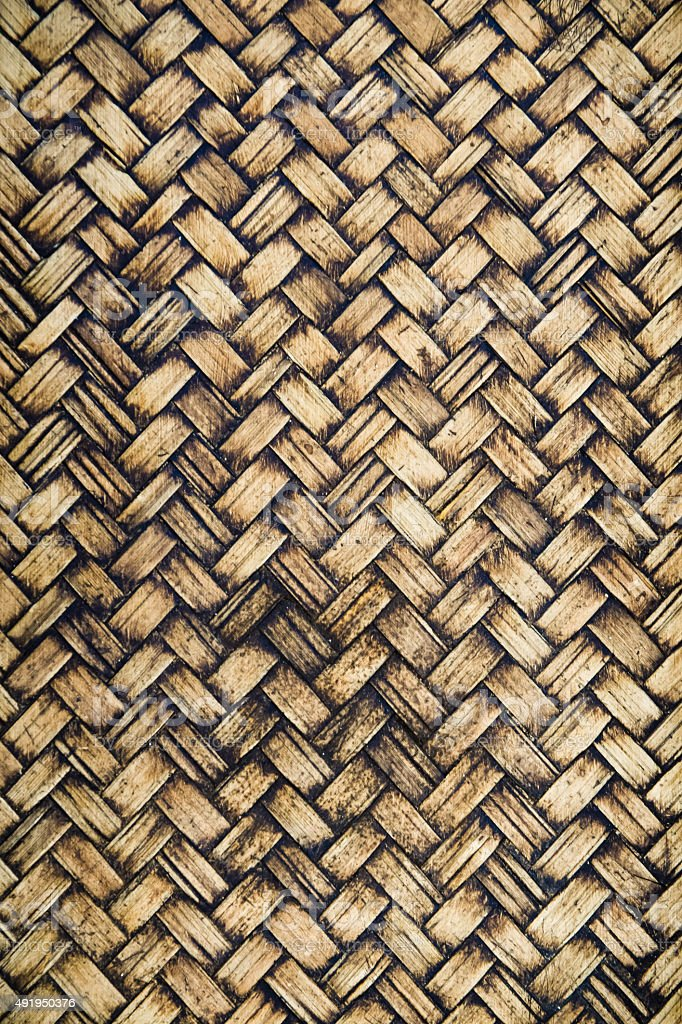 Old wicker texture background stock photo