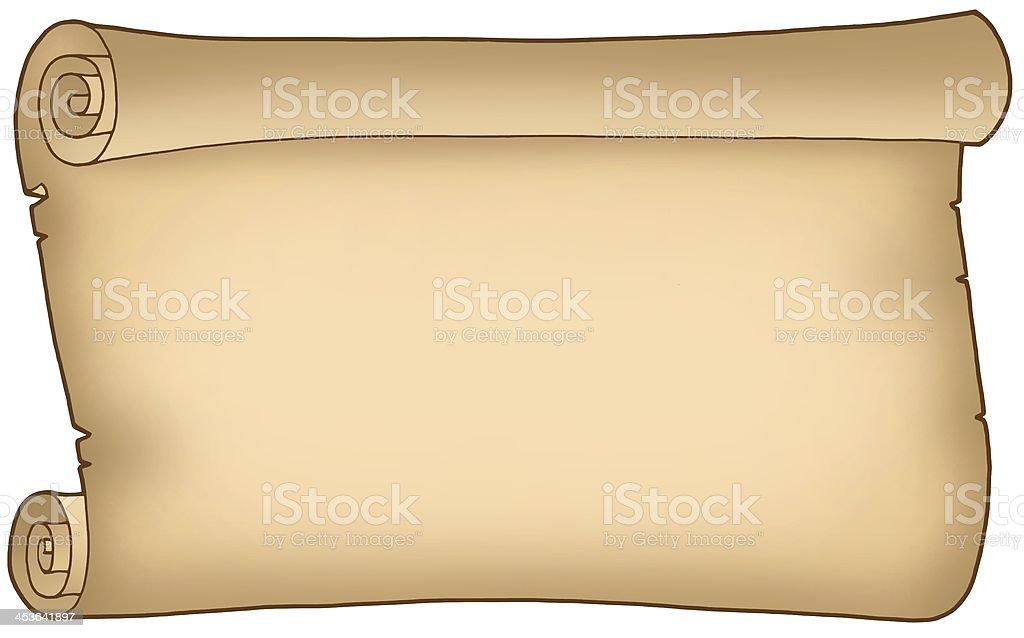 Old wide parchment royalty-free stock photo
