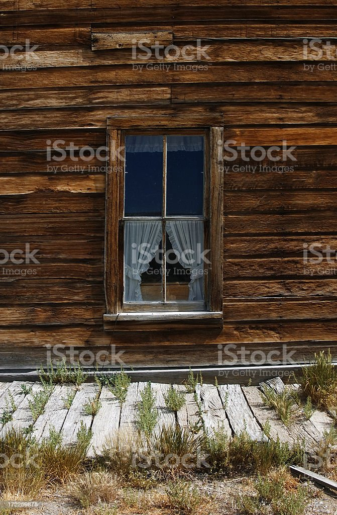 Old Wild West Window royalty-free stock photo