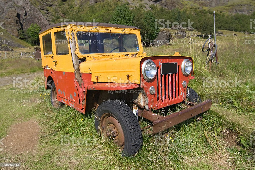 Old Willys Jeep royalty-free stock photo