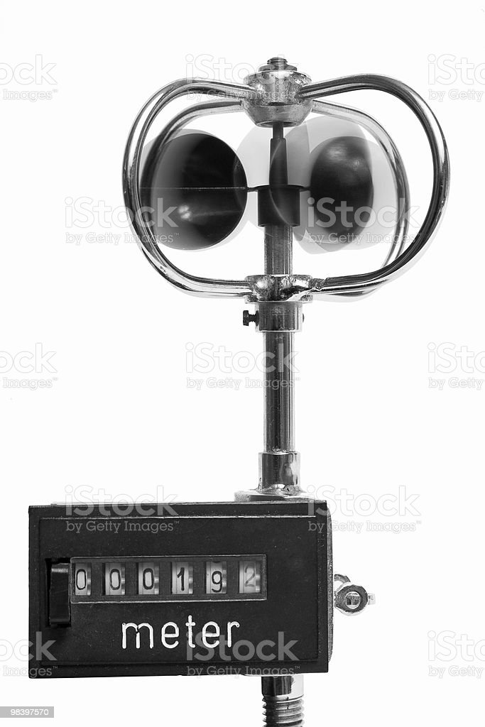 Old wind meter royalty-free stock photo