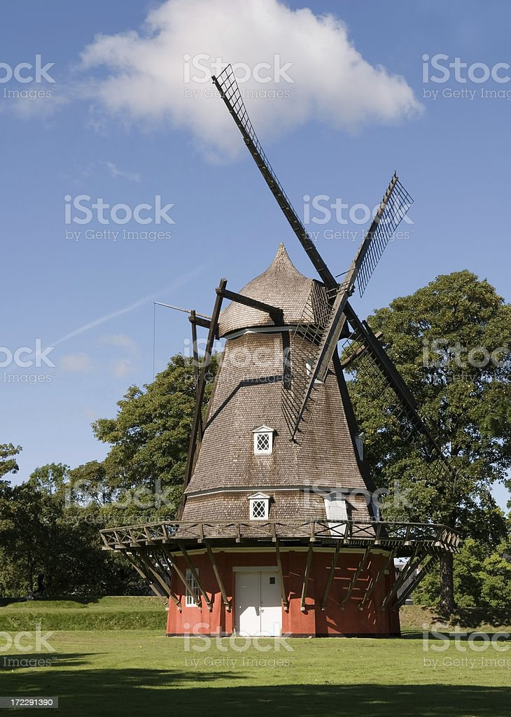 Old windmill. royalty-free stock photo