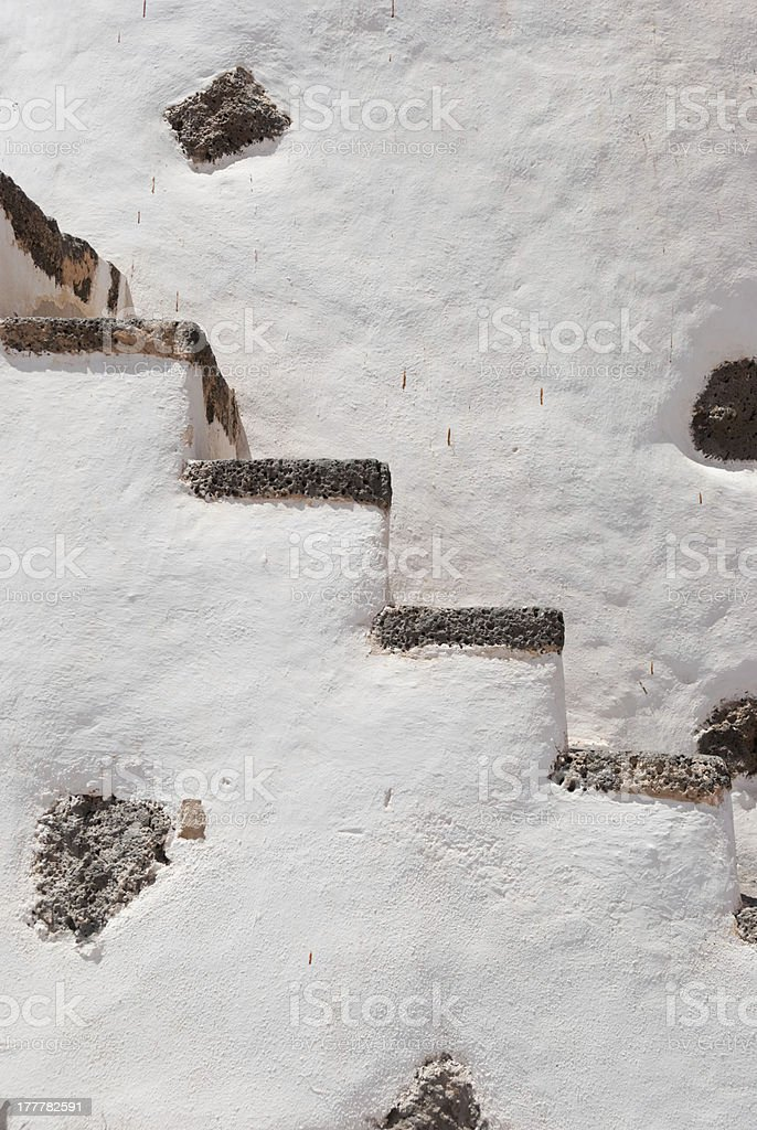 Old Windmill Stairs background royalty-free stock photo