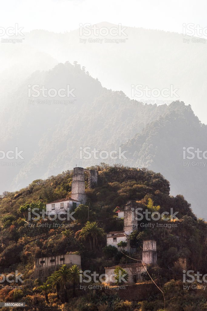 Old windmills of 'Bellido' stock photo
