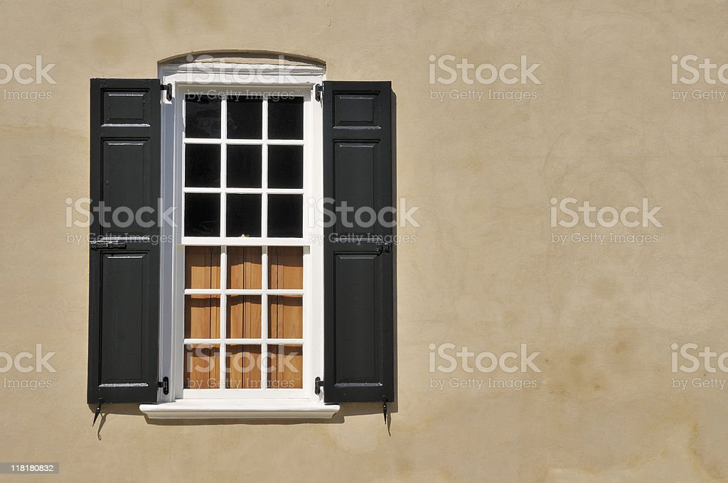Old Window, Charleston royalty-free stock photo
