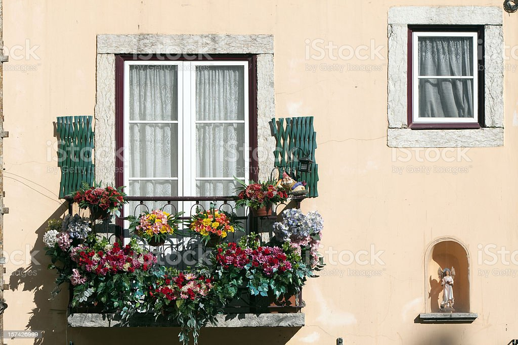 Old Window Detail in Portugal stock photo