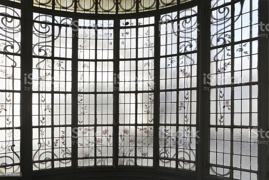 old window glass royalty-free stock photo