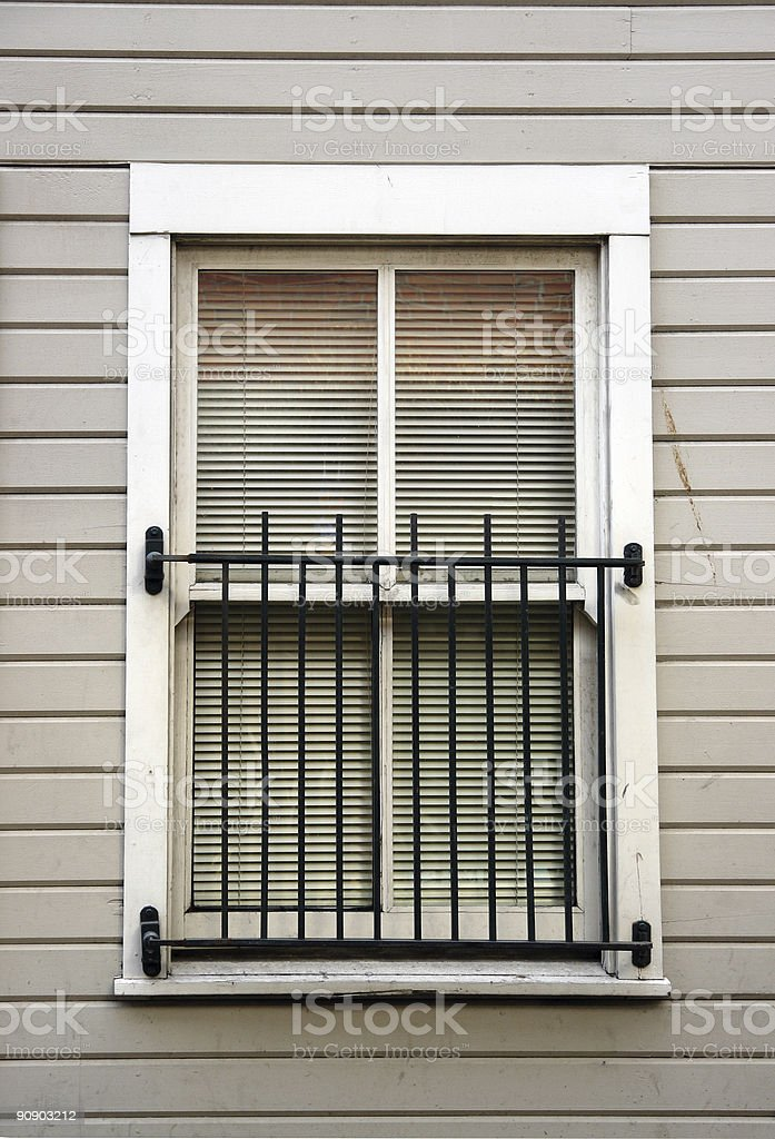 Old Window in Restored Building royalty-free stock photo