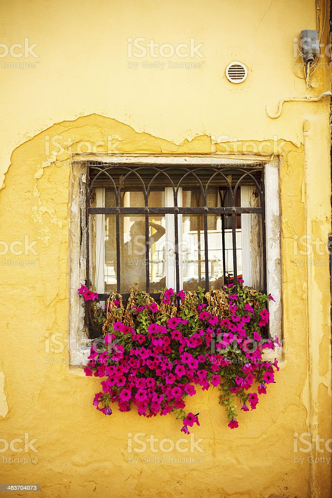 Old window in Venice, Italy royalty-free stock photo