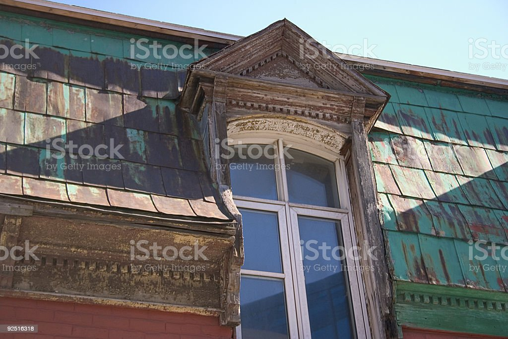 Old window Quebec royalty-free stock photo