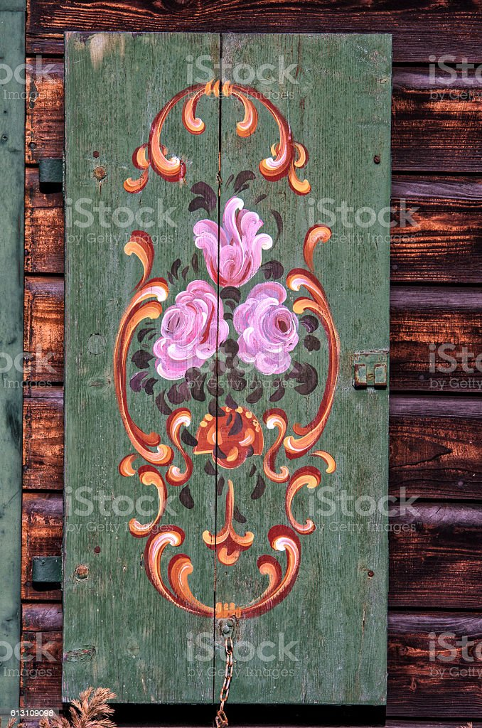 Old window shutters royalty-free stock photo