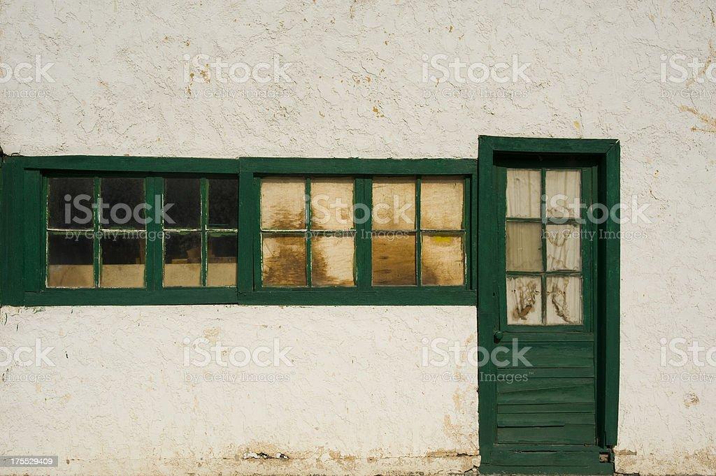 Old Windows and Door stock photo