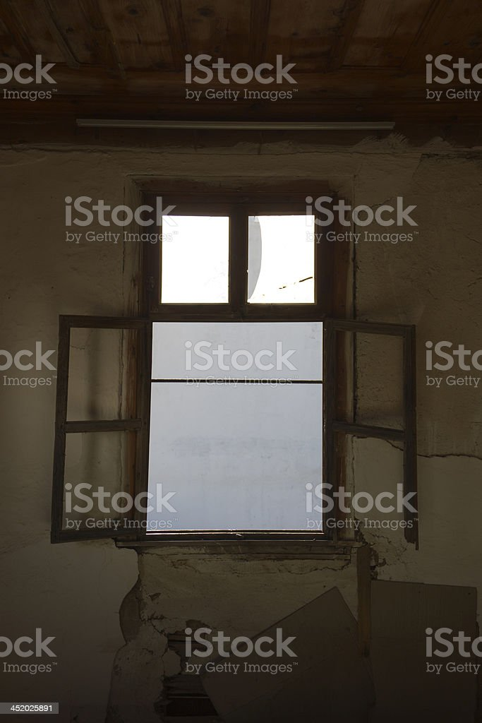 Old Windows royalty-free stock photo