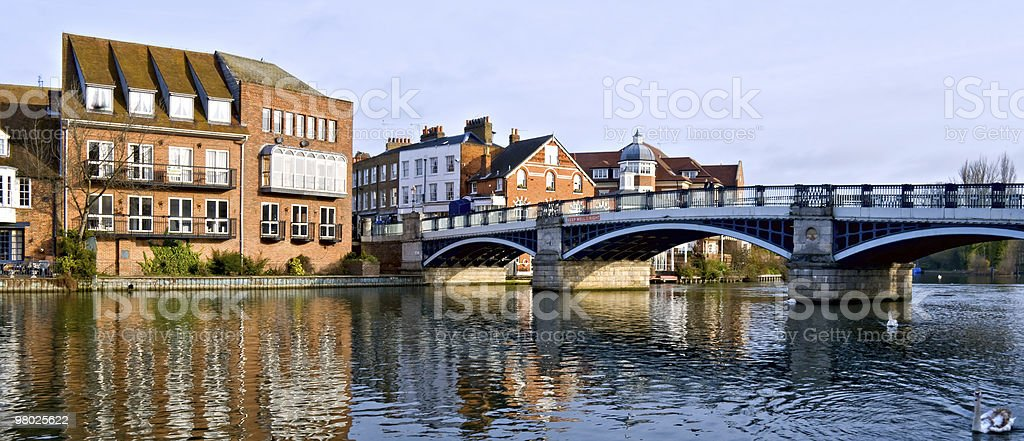 Old Windsor Bridge, England stock photo