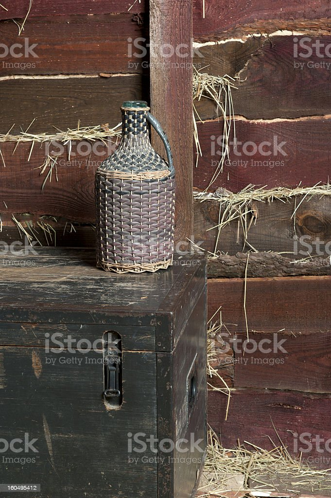 Old wine bottle royalty-free stock photo