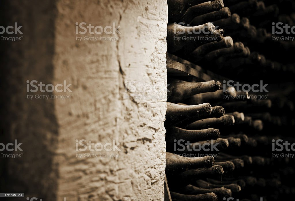 old wine bottles royalty-free stock photo