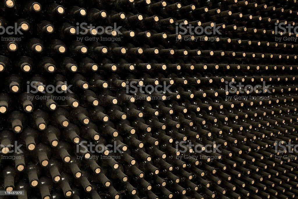 Old wine bottles royalty-free stock photo