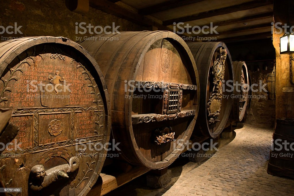 old wine casks in Colmar royalty-free stock photo