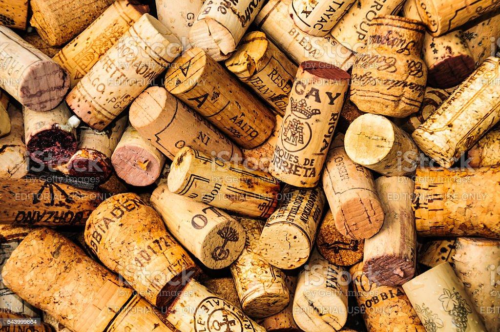 Old Wine Corks stock photo