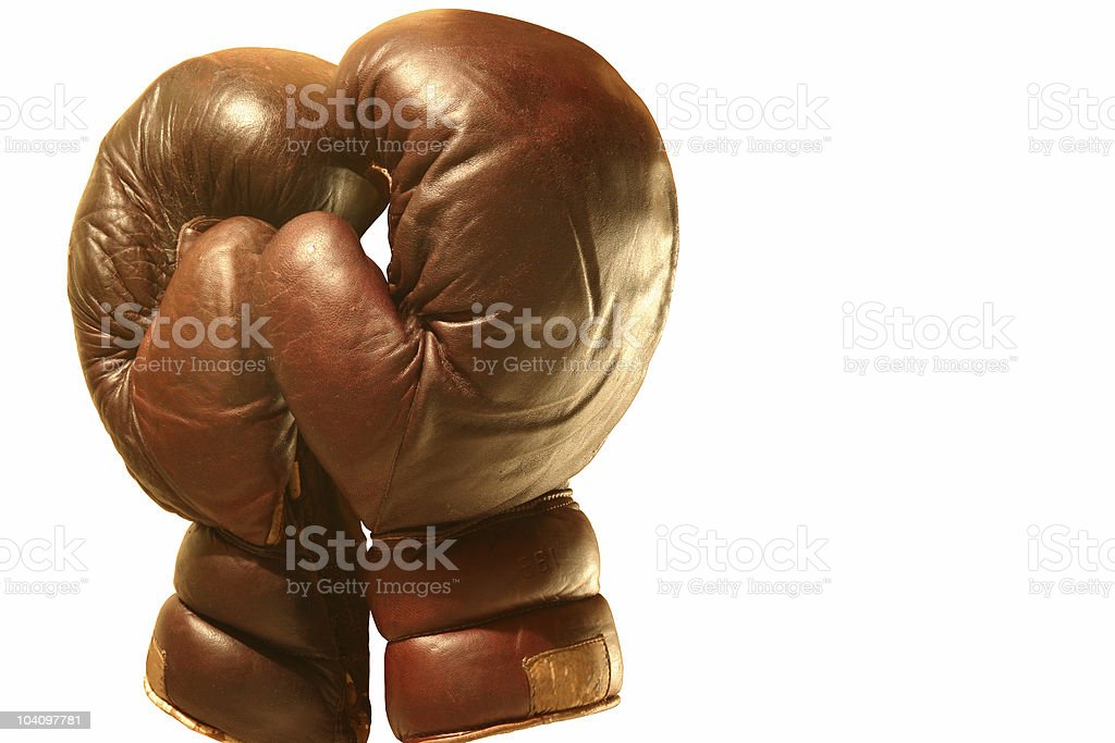 Old winning boxing gloves # 3 royalty-free stock photo