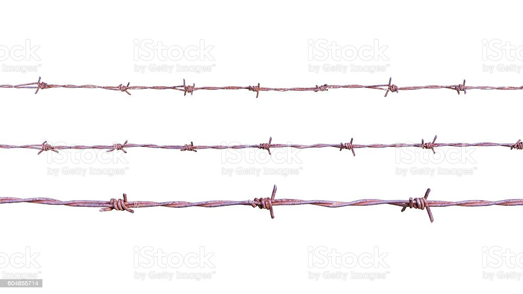 old wire bared stock photo