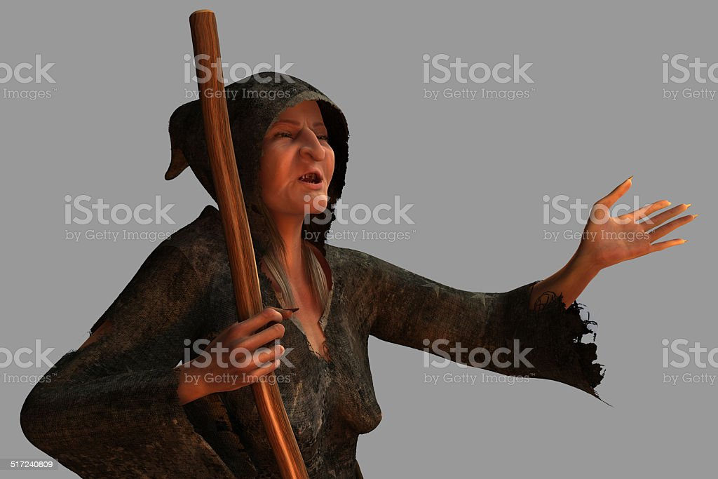 Old Witch stock photo