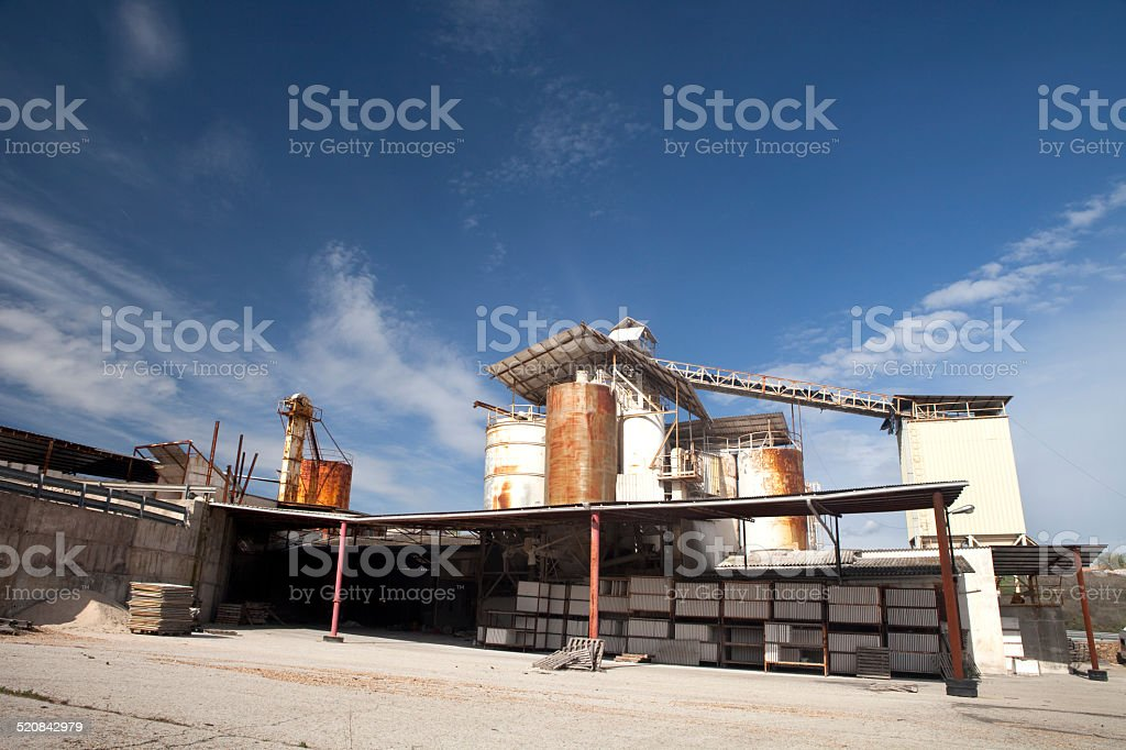 Old withe factory stock photo