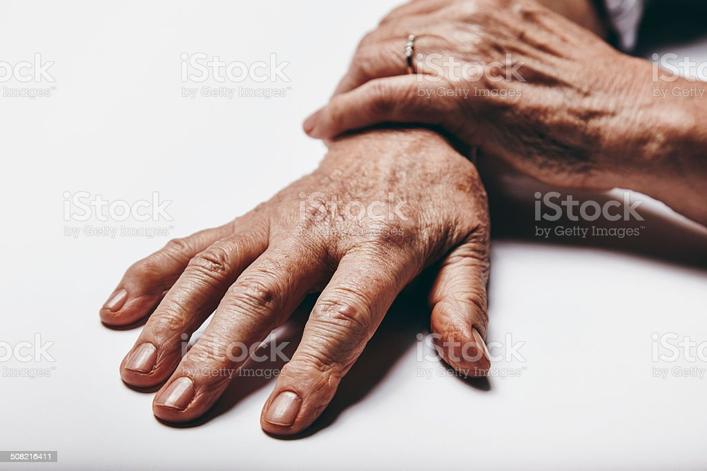 Old woman hands royalty-free stock photo