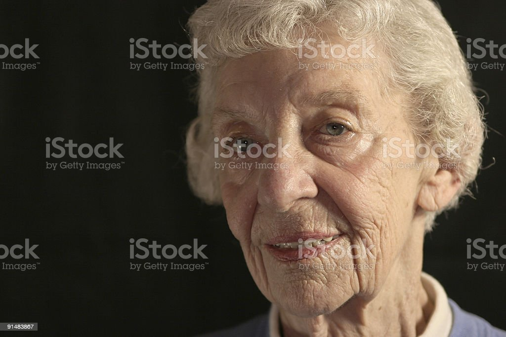 Old Woman Looking Off-Camera royalty-free stock photo