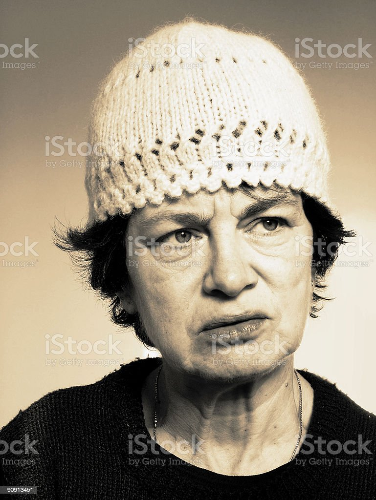 Old Woman portrait royalty-free stock photo