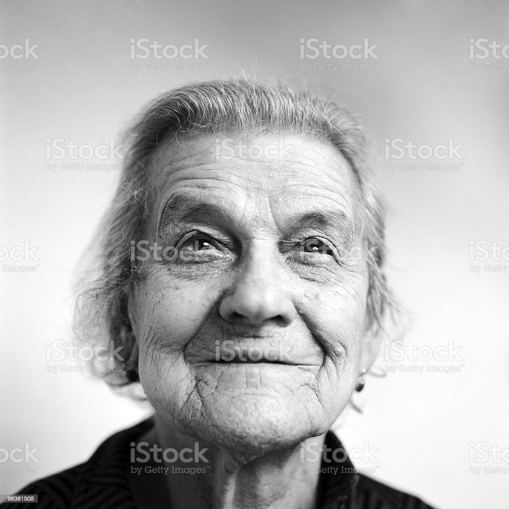 old woman - Portrait stock photo