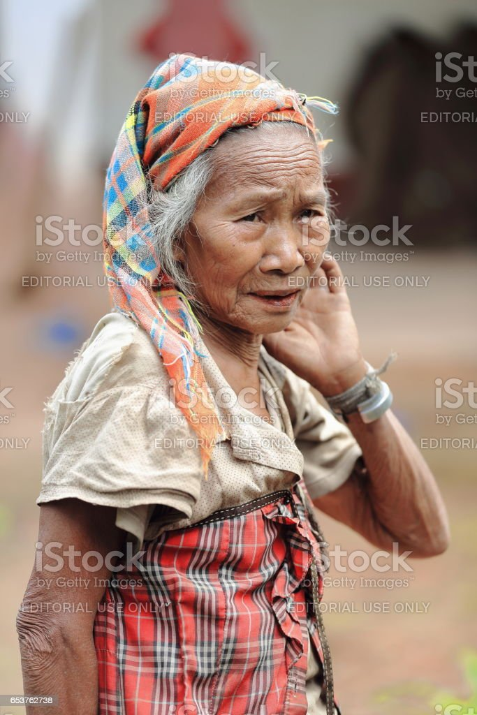 Old woman-Akha tribe. Nam Ha conservation area-Luang Namtha province-Laos. 3359 stock photo