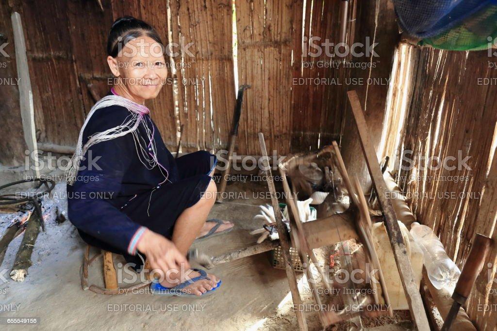 Old woman-Lanten tribe. Nam Ha conservation area-Luang Namtha province-Laos. 3527 stock photo