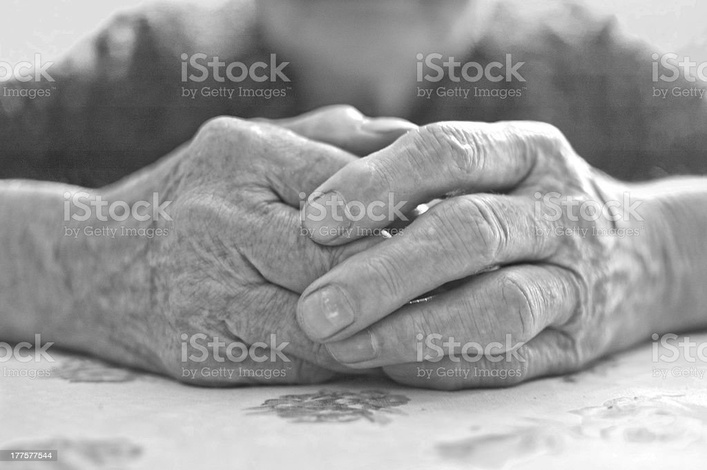 Old woman's hand royalty-free stock photo