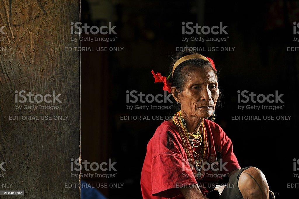 Old women of Mentawai. stock photo