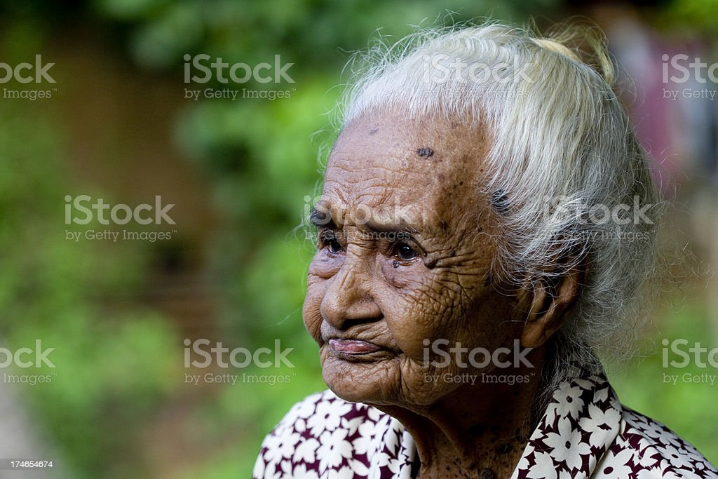 Old women on Sumba, Indonesia. royalty-free stock photo
