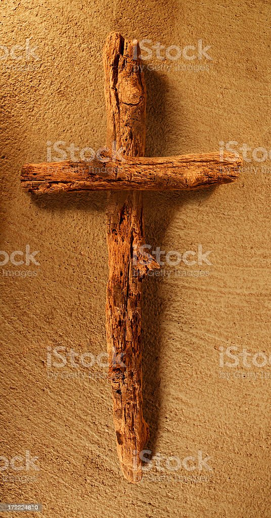 old wood cross royalty-free stock photo