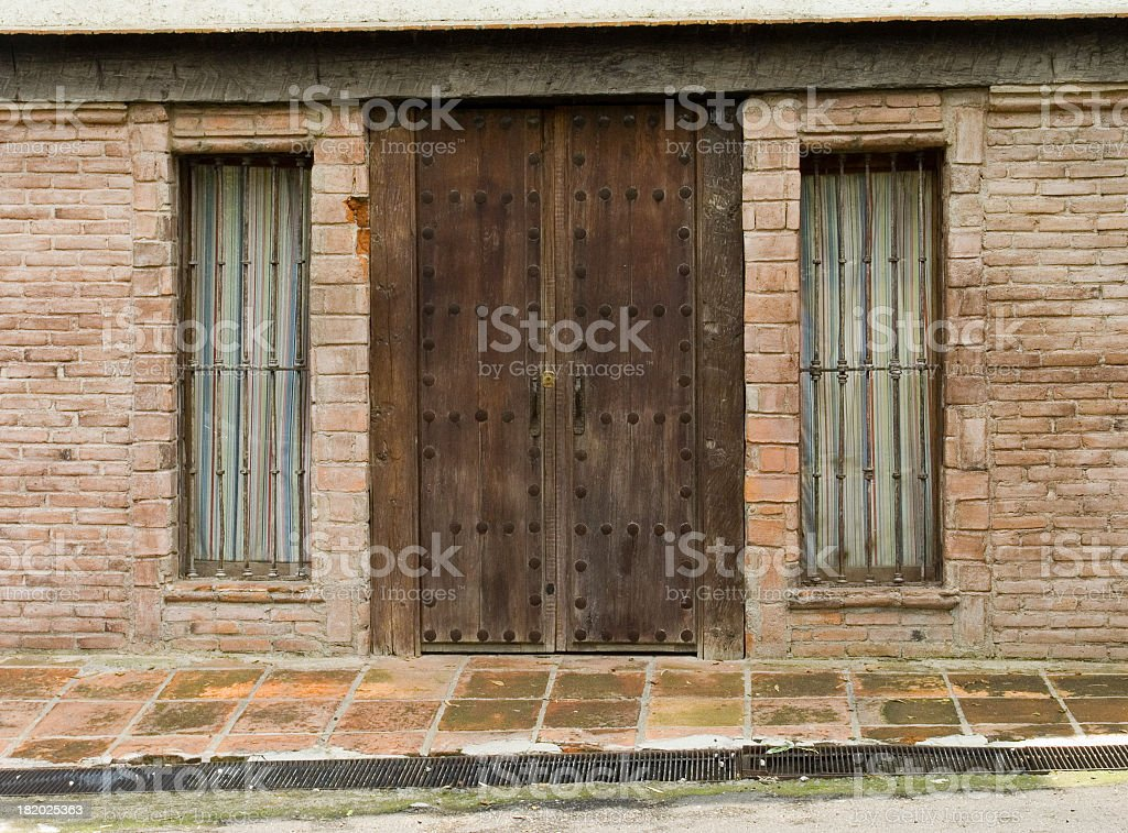 Old wood door and windows royalty-free stock photo