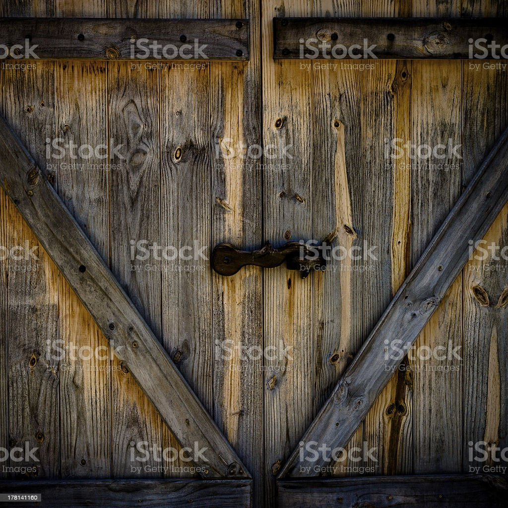 old wood door stock photo