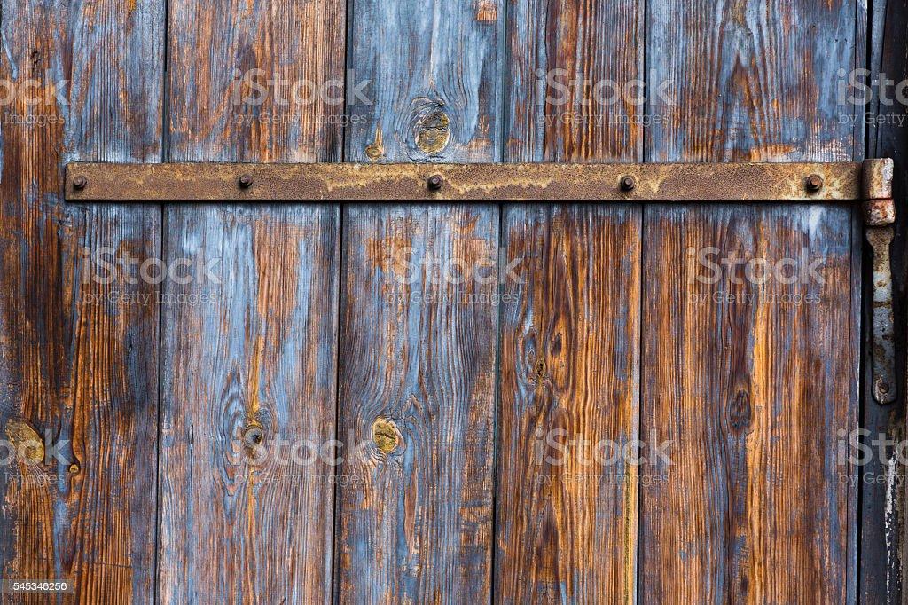 Old wood door stock photo