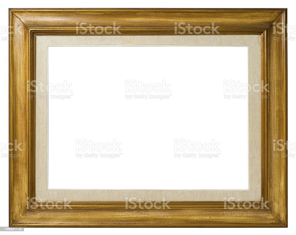Old  wood frame. royalty-free stock photo