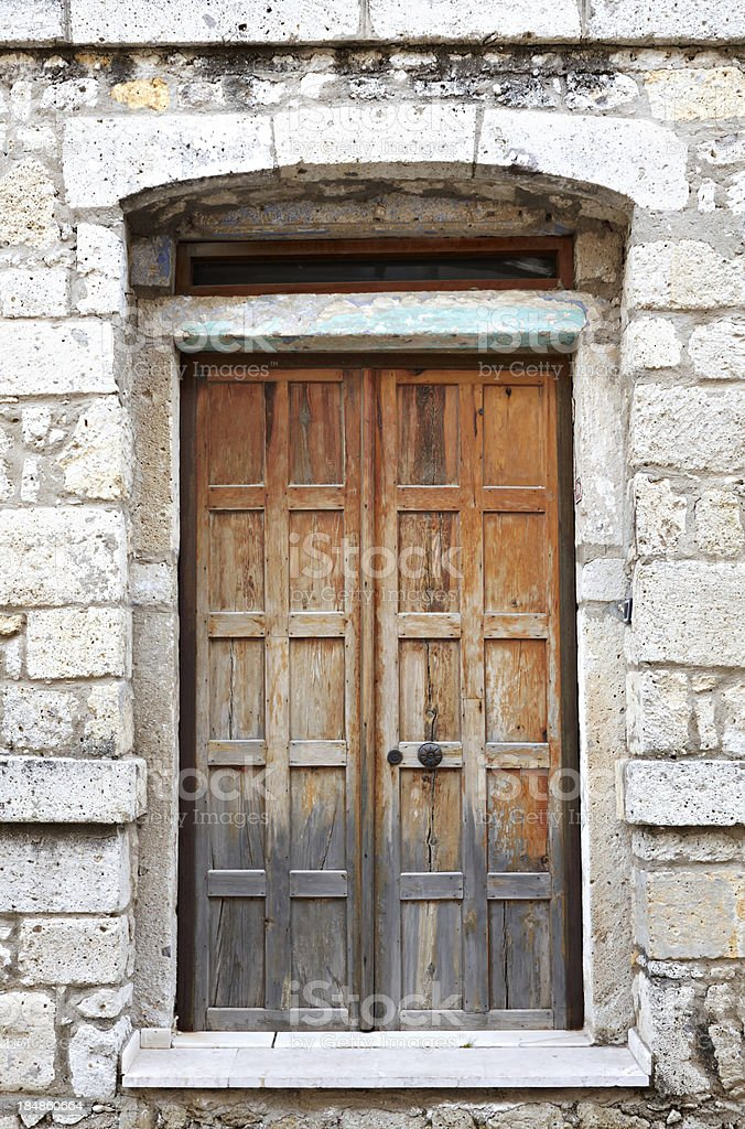 Old wood gate royalty-free stock photo