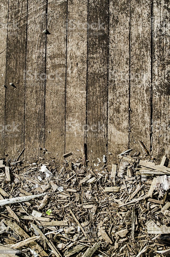 old wood plank background texture and rotten chips royalty-free stock photo