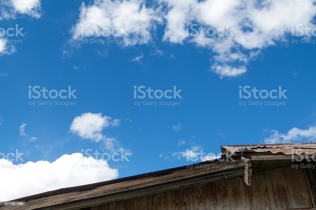 Old Wood Roof Line stock photo