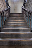 old wood stair inside home