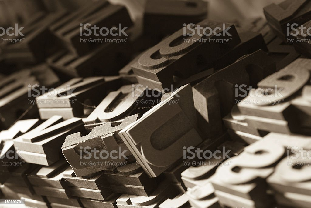 Old Wood Type royalty-free stock photo