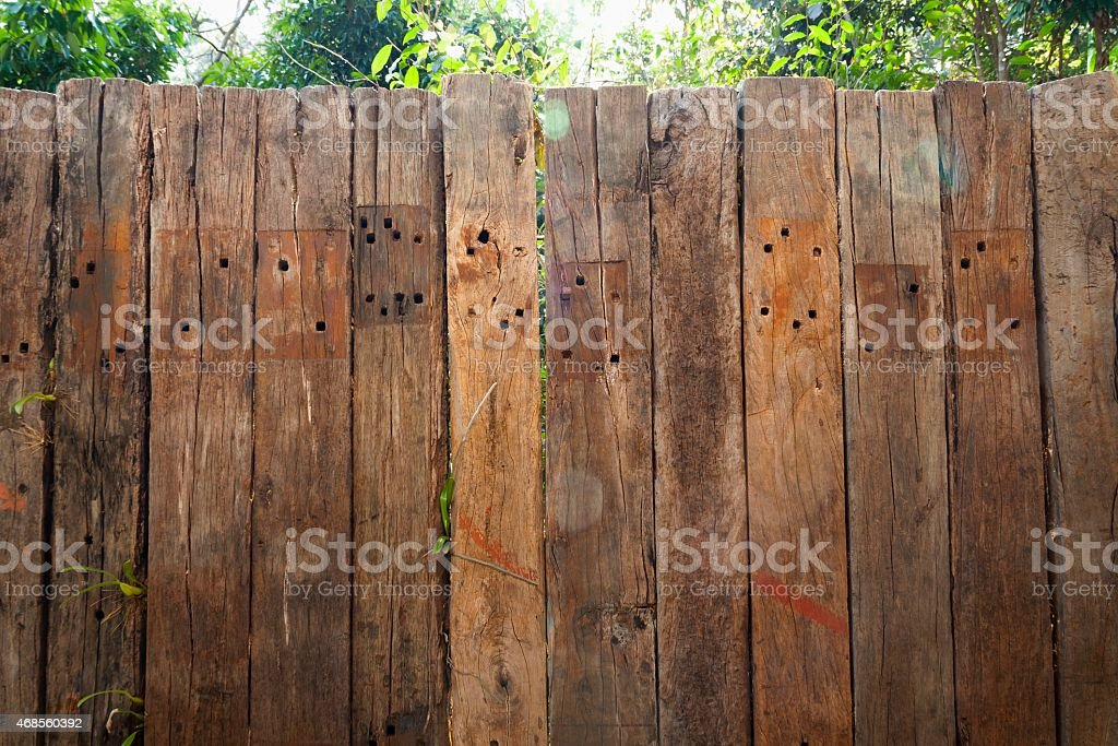 Old wood wall outdoor royalty-free stock photo